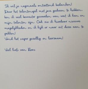 Bedankje Roos (2)