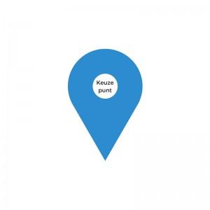 Blauw punt- Keuze punt