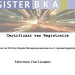 Ine Linssen: geregistreerd adviseur BKA
